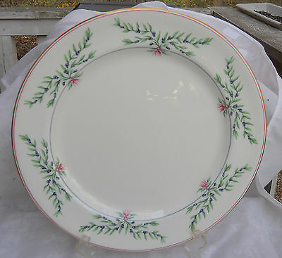 Royal Worcester Olivia Bone China Chop Plate Platter England Blueberries 12 1/2""
