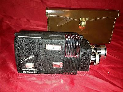 VINTAGE WITTNAUER CINE-TWIN ZOOM 800 CAMERA - WITH CASE/ FILTER RING/1968 FILM