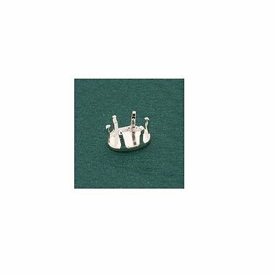 (4x6mm - 8x6mm) Oval Snap-tite Solid Sterling Silver Head