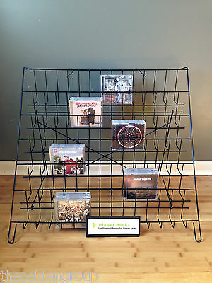 New - Planet Racks - Folding - 6 Tier - Counter - Wire - CD - Display Rack