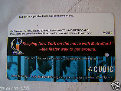 NEW YORK COLLECTABLE  METRO CARD METROCARD CUBIC USED EXPIRED CARD