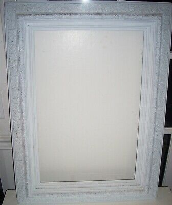 Large Ornate Heavy Antique White Classical Acanthus & Floral Motif Picture Frame