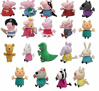 Peppa Pig 15 cm Plüschfigur Princess George Ballerina Pirate Superhero Peppa ty