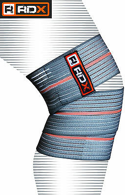 RDX Knee Wrap Support Bandage Brace Guard Weight Lifting Compression Strap Gym A