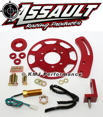 """SBC Chevy 7"""" Flying Magnet Crank Trigger Ignition Kit 350 400 Small Block"""