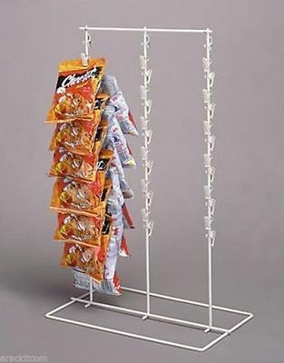 AYS Triple Strip 39 Clip Retail Snack Product Counter Display Rack  (Almond)