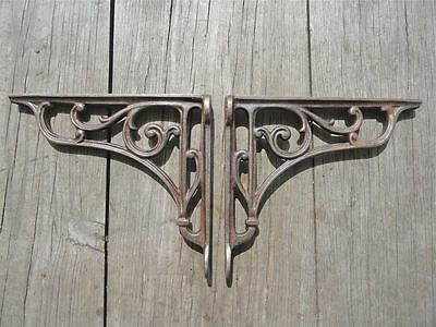 Pair Of Cast Iron Edwardian Scroll Brackets Shelf Brackets Wall Bracket Sc1