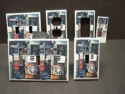 Route 66 Vintage Gas Pumps Image Light Switch Cover Plate Or Outlet