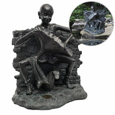 Topping Up Pond Pixie – Outdoor Garden Water Feature Statue Fountain Spitter