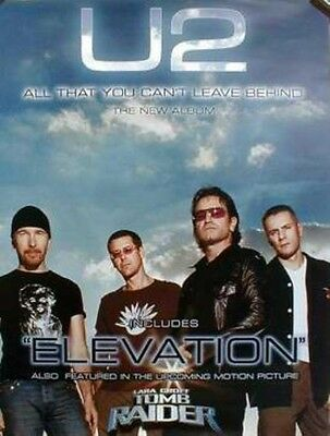 U2 2000 leave behind/elevation group promo poster ~MINT condition~!