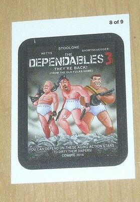 2013 Topps Wacky Packages ANS11 CLOTH sticker Coming Distraction DEPENDABLES 8/9