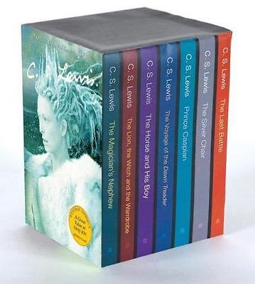THE CHRONICLES OF NARNIA 7 BOX Set NEW CS LEWIS Movie Tie in Paperback Sealed