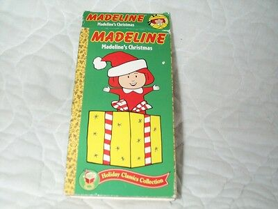 MADELINE'S CHRISTMAS VHS CHILDREN'S HOLIDAY CLASSIC ANIMATED CHRISTOPHER PLUMMER