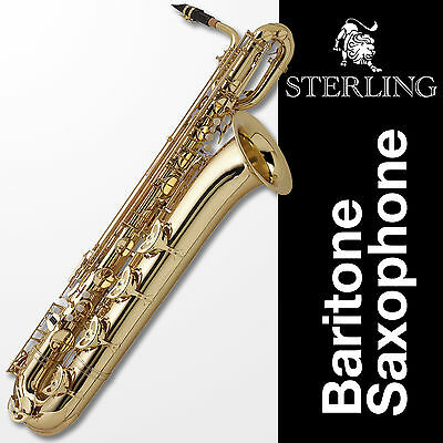 BARITONE SAXOPHONE STERLING • BRAND NEW SAX • QUALITY • With Case, Accessories •