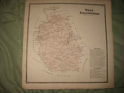 Antique West Fallowfield Township Cochranville Chester County Pennsylvania Map N