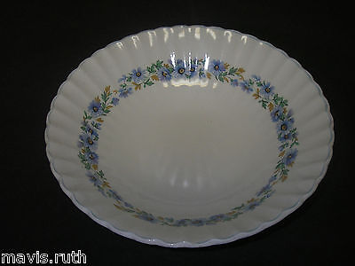 "Dinnerware J & G MEAKIN Classic White ALPINE MIST 8½"" Vegetable Bowl Blue Daisy"