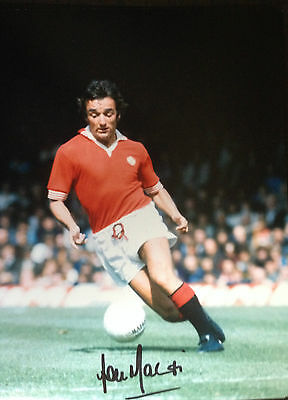 Lou Macari - Manchester United Legend - Signed Colour Photograph