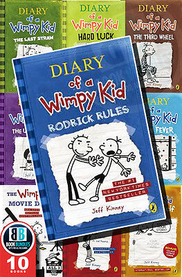Diary of a Wimpy Rodrick Rules by Jeff Kinney 10 Book Set