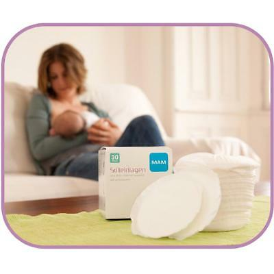 MAM Breast Pads (Pack of 30) Breastfeeding Care & Comfort Accessory