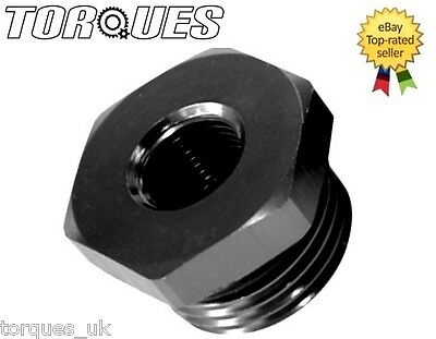 "AN -6 (AN6 -06) ORB Hex Head Port Plug with O ring Boss With 1/8"" NPT Port Black"