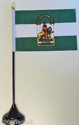 Spain Andalusia Polyester Table Desk Flag