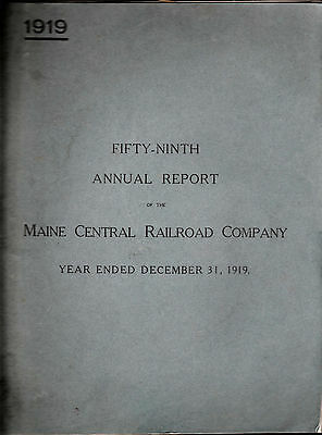 Maine Central Railroad Company Annual Report 1919 Trains