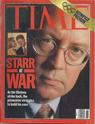 TIME MAGAZINE ~ FEBRUARY 9 1998 ~ 2/9/98 ~ STARR AT WAR Clinton OLYMPICS PREVIEW