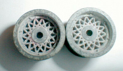 Vintage 1960's Original Chaparral REAR Tapered Wheels 1Pair COX #14014 1/24 NOS
