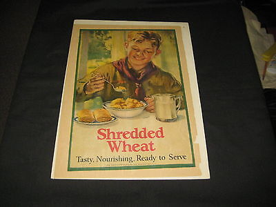 Boy Scout Shredded Wheat Advertisement, matted, 1910-20s  cp