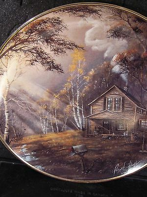 Franklin Mint TRANQUIL MORNING Cabin In Woods Ltd Ed Plate