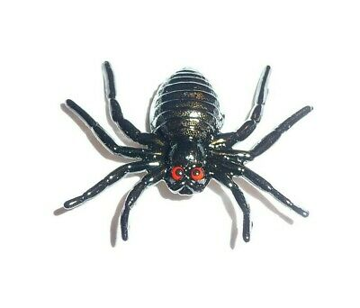 "Creepy but Adorable Large Metal Black Spider Shank Button  1-5/8""x1-3/8"""