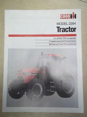 Vtg IH International Sales Brochure~Case 2294 Tractor