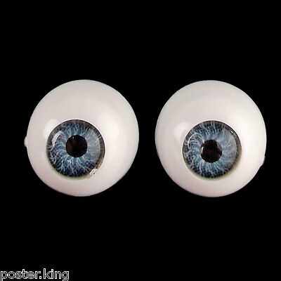 Antique Blue Pair Doll Eyes Half Round Acrylic Dolls Eye 10mm for BJD Dollfie