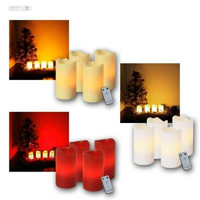 4er set led adventskerzen rot mit fernbedienung kerzenset weihnachtsdeko xmas eur 15 95. Black Bedroom Furniture Sets. Home Design Ideas