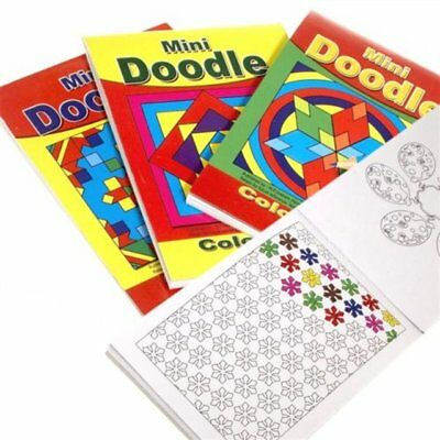 6 x Mini Doodle Colouring Books Childrens Art Gift Ideal Party Bags Birthday