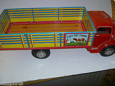 Vintage Marx - 1950's Tin Litho (RARE IN HIGH GRADE) - LAZY DAY FARMS Truck