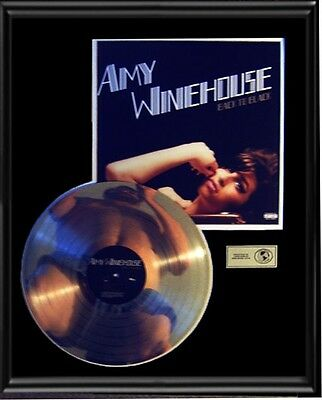 Amy Winehouse Back To Black  Rare Lp Gold Record Platinum  Disc Album