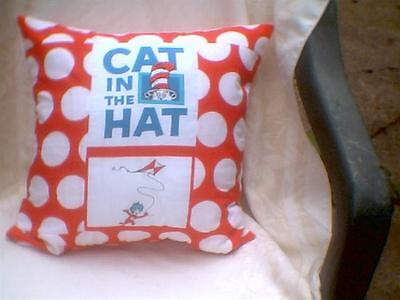 """Pillow COVER 16"""" Dr. Seuss Cat in the hat Thing 1 flying kite"""