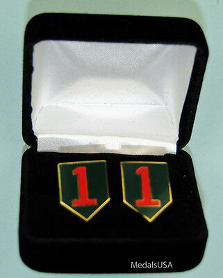 1st Infantry Division Army Cufflinks in Presentation Gift Box Cuff Link