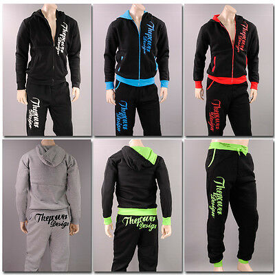 UNISEX JOGGINGANZUG Trainingsanzug Fitness Hose+Jacke Fleece Sport Tanzen power