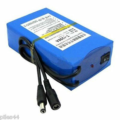 Batterie Rechargeable 12V Li-ion 9800mAh + Chargeur Battery Accus Accu Lithium