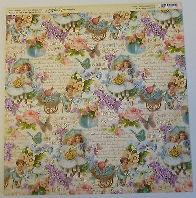 Graphic 45 Sweet Sentiments All My Love  12 x 12 Scrapbook Paper -2 Sheets