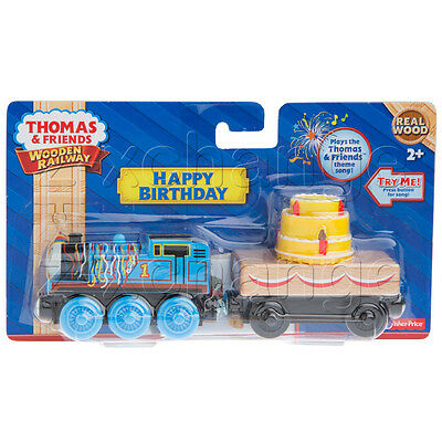 HAPPY BIRTHDAY THOMAS & MUSICAL LIGHTED CAKE CAR play theme song Wooden Train