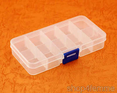 Multifunctional Plastic Box with 10 Compartments - Misc Storage