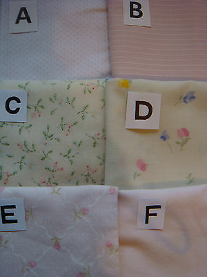 FLORAL PATTERN COTTON Material, Small Scale for Tiny Projects 1' sq Dolls House
