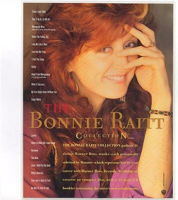Bonnie Raitt 1990 Vintage Advertising Counter Stand-Up Mint Condition