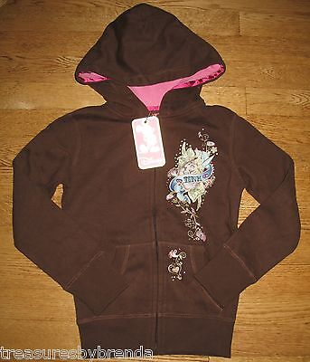 Disney Tinker Bell Girls Hoody Size 6 Brown