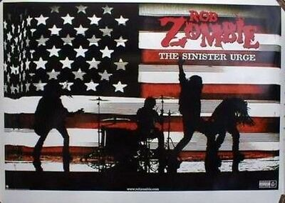 ROB ZOMBIE 2001 sinister urge promo poster ~MINT~NEW~!!