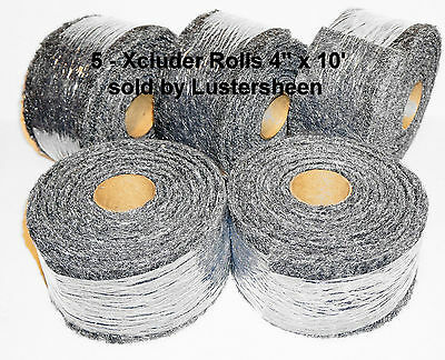 "Xcluder - Rodent & Pest Fill Fabric, 5 EA of the  4"" x 10' ft roll"