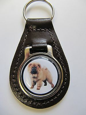 Chow Chow Dog Key Ring Leather Key Fob Ideal Christmas Gift Stocking Filler 5F